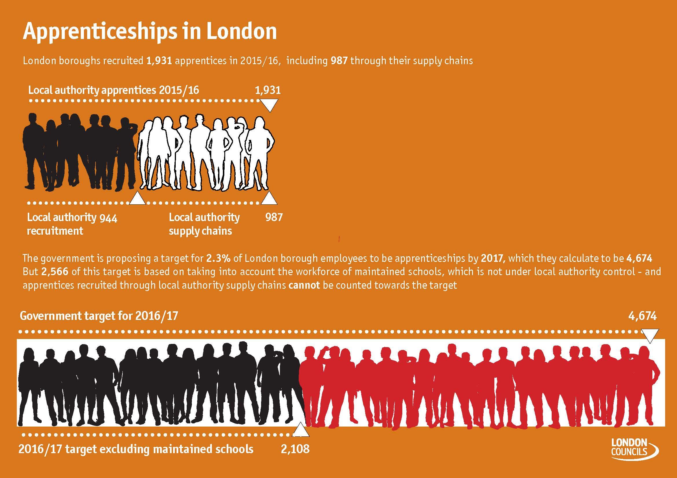 Public sector apprenticeship target infographic