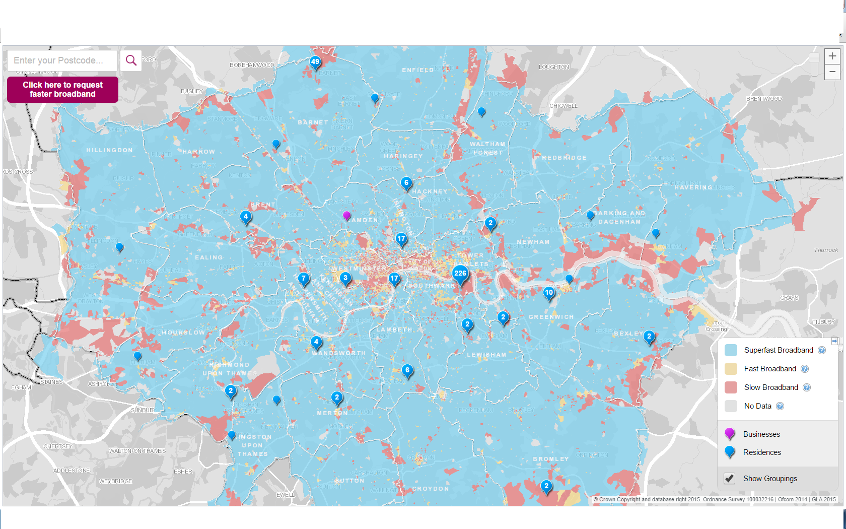 The Greater London Authority Has Published An Interactive Connectivity Map Showing London S Broadband Coverage We Will Be Working With The Gla S Notspots