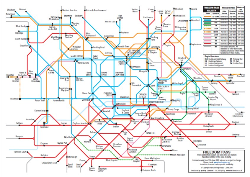 Freedom Pass Travel Map 2020 Update