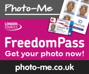 Freedom pass photo me square advert