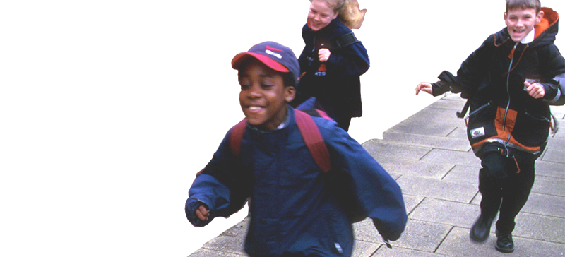 kids running header image