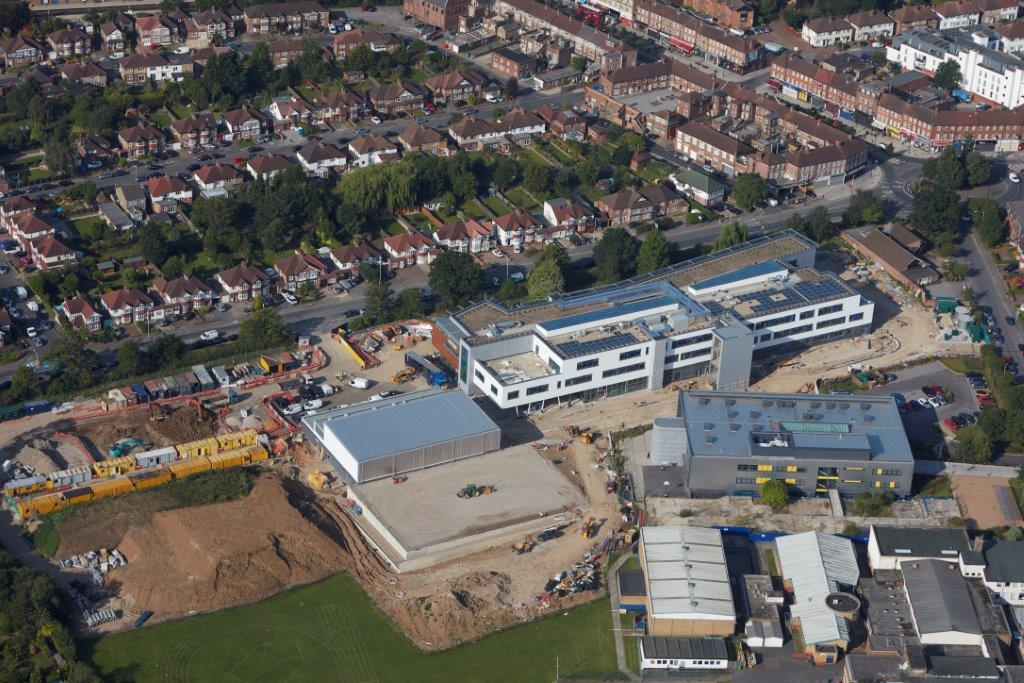 Northwood School, Hillingdon - arial image