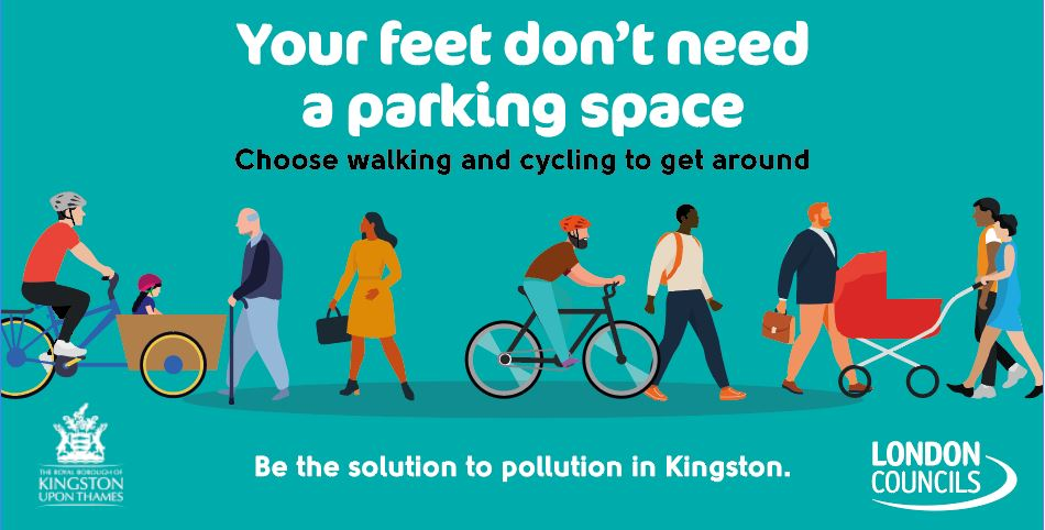 Campaign image from RB Kingston's active travel campaign