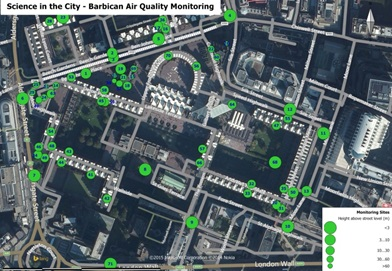 Barbican Citizen Science Air Quality Monitoring Locations