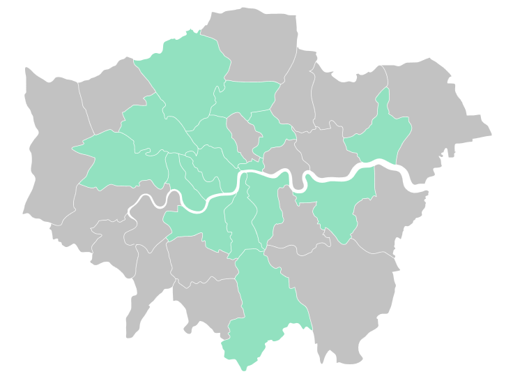green map of London