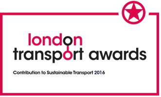 Freight Consolidation Service's award for Contribution to Sustainable Transport 2016 at the London Transport Awards