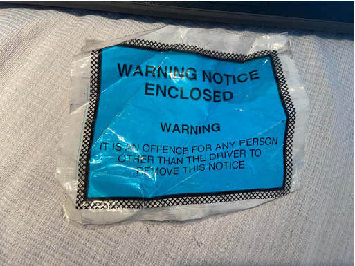 Example of Warning Notice envelope