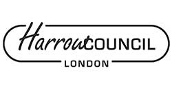 Harrow Councils b & w logo