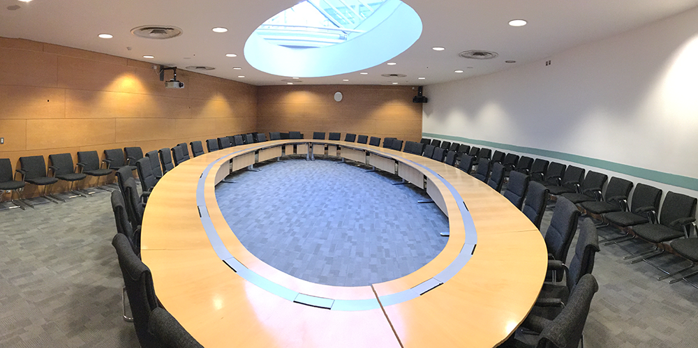 Conference room panorama shot