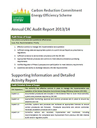CRC scope audit report cover