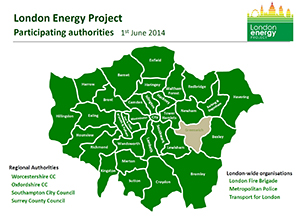 Participating London Authorities map