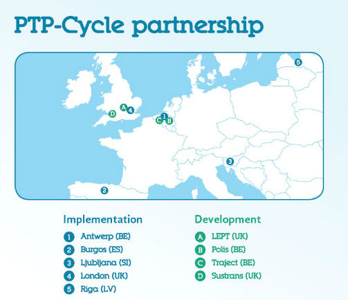 Map of PTP-Cycle partners
