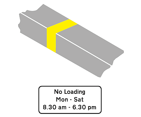 image of a yellow line on curb