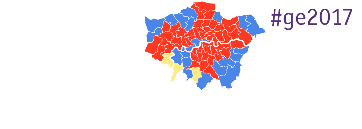 London GE results map