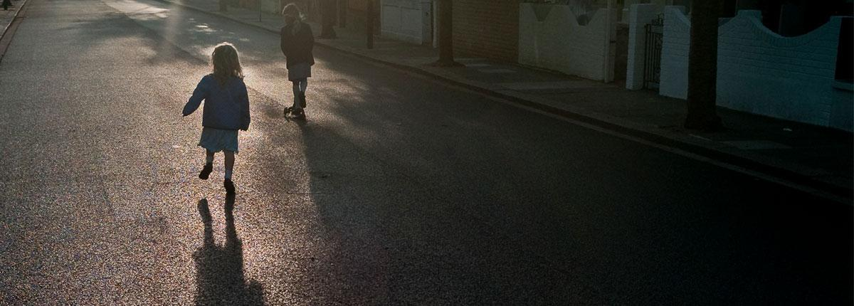 Children playing in south London