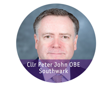 Cllr Peter John, Southwark, OBE