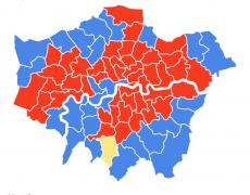 General election constituency map London