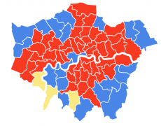 GE 2017 final result London map