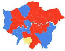 London Election map