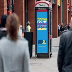 HIV Testing Advert on phone box