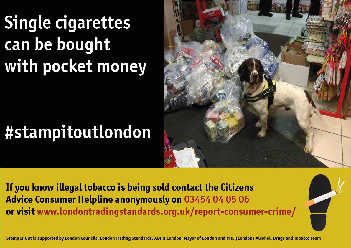 Dog and illegal tobacco